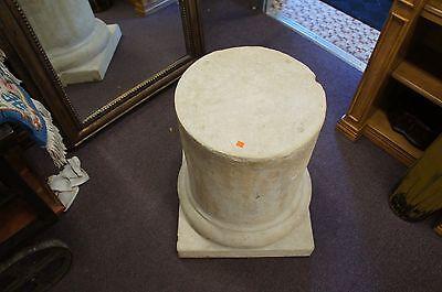 Vintage Plaster Pedestal Roman Corinthian Column Stand Architectural Decor Form 6
