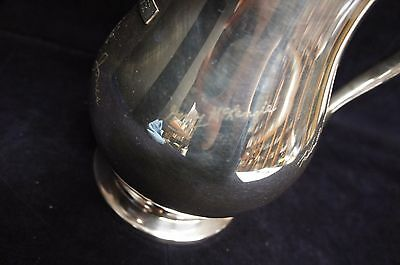 Beautiful Vintage Signed & Marked Silverplate Water Pitcher Serving Formal 6