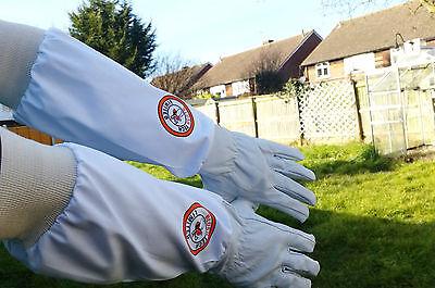 Beekeeper Bee Gloves Beekeeping gloves Goat skin Leather & 100% Cotton XLARGE 4