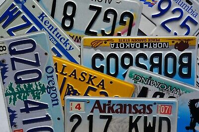 License Plates -  All 50 States Canada Mexico Available Good Condition Plate Lot 3
