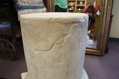 Vintage Plaster Pedestal Roman Corinthian Column Stand Architectural Decor Form 11