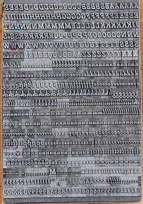 Bleischrift 9 mm Bleisatz Buchdruck Handsatz Lettern Alphabet Letter Druck Blei 2