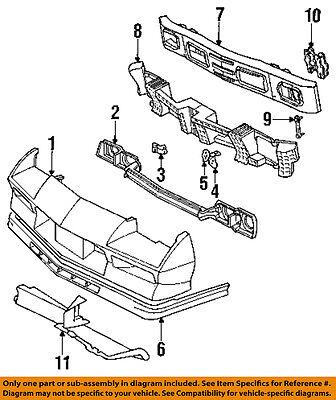 Camaro Lower Radiator Air Deflector Lower Air Dam 1984 1992 New Oem