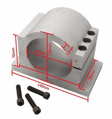 〖FR〗1.5KW Air cooled Spindle Motor ER16 220V& 1.5KW Inverter VFD& 80mm Clamp CNC 6