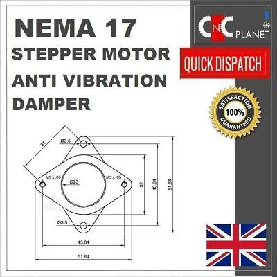 Nema 17 Stepper Motor Shock Absorber Anti Vibration Damper Mount Bracket 3d Prin 3