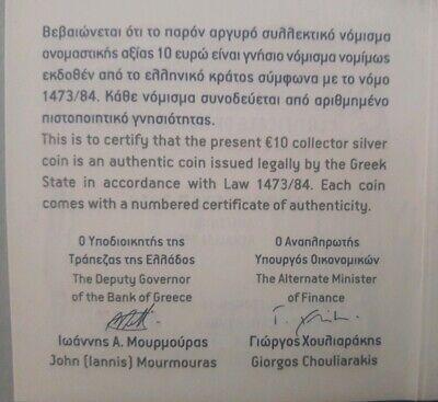 SILVER color Proof 🅰️ GREECE 10 Euro 2019 🅰️ RENAISSANCE 🅰️ EL GRECO DOMENICO 8