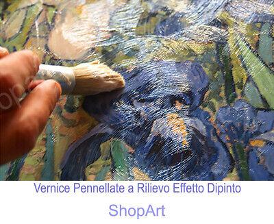 🌹Quadro Tamara de Lempicka Donna in Verde Stampa su Tela Vernice Pennellate 4