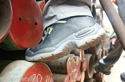 Delta Plus Panoply Sault S3 Wide Fit Black Mens Steel Toe Cap Safety Work Boots