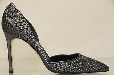 93906dbd930 ...  830 New Manolo Blahnik Tayler Tayleradamesh Grey Metallic Pump Dorsay  Shoes 36. 2