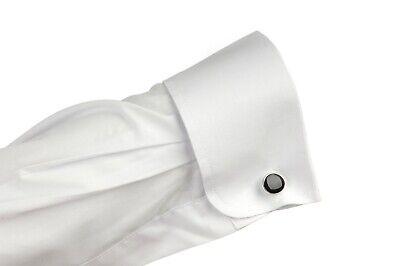Gents White Dress Shirt  For Menswear/Evening wear + 1 Set Of Black Cufflinks 2