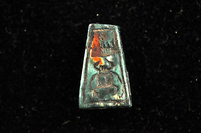 Ancient Egypt New Kingdom Steatite Amulet Seal Bead 2
