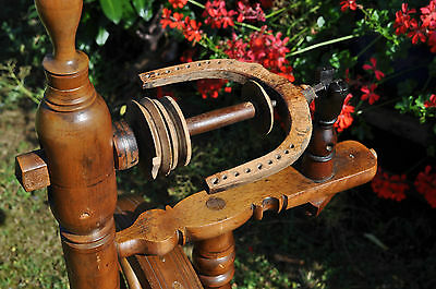 antikes  seltenes Spinnrad Eiche schwere Ausführung 3
