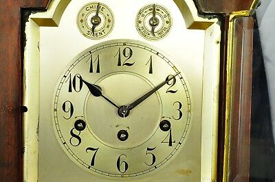 Antique German Junghans 8 Day Bracket Clock with Westminster Chime approx. 1910 4