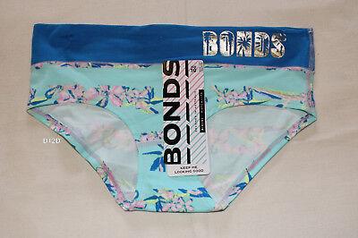 Bonds Ladies WVBYA DAY Miami Teal Originals String Bikini Brief Size 10 New
