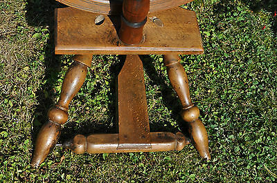 antikes  seltenes Spinnrad Eiche schwere Ausführung 5