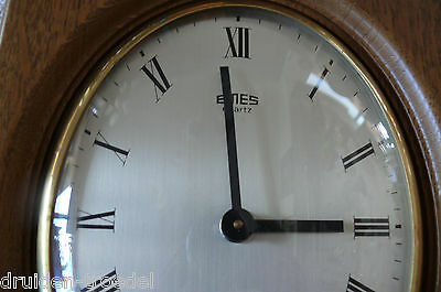 Wall Clock Quartz from Emes with Beautiful Wooden Housing