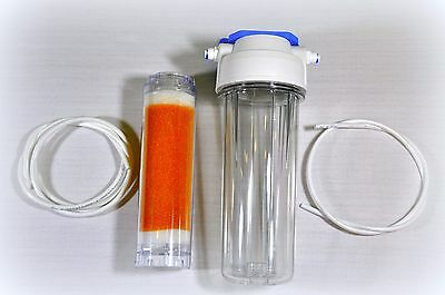 Refillable Inline filter filled with high quality DI resin RO system polishing
