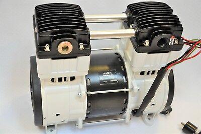 Twin Piston Oilless Vacuum Pump Push/Pul 10CFM Science Medic/Dental Lab Workshop 6