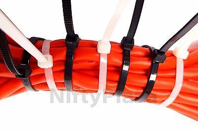 NiftyPlaza 18 Inch Cable Ties - 100 Nylon Zip Ties 75 lbs UV Weather Resistant 5