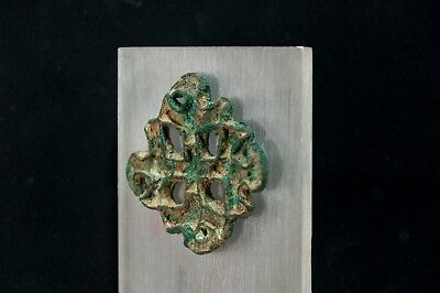 Bactrian Copper Alloy Lobed Openwork Stamp Seal w. Corrugated Edges 2600-2100 BC 7