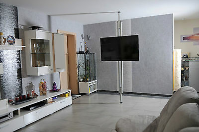 tv s ule twinni drehbar boden decken stange tv standfuss 2 m 28 55 zoll eur 168 85. Black Bedroom Furniture Sets. Home Design Ideas