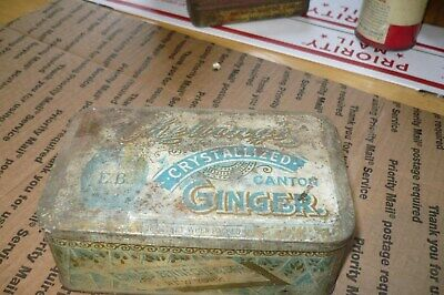 VTG Cheloong's Crystallized Canton Ginger Tin EDWARD BENNECHE & BRO. NY 6
