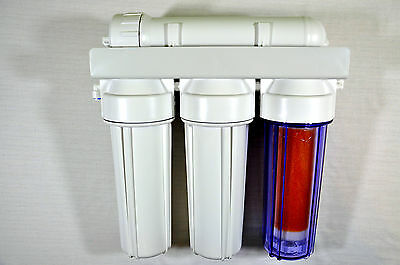 4 Stage Reverse Osmosis filter with DI resin chamber 50/75/100/150/200/300 GPD