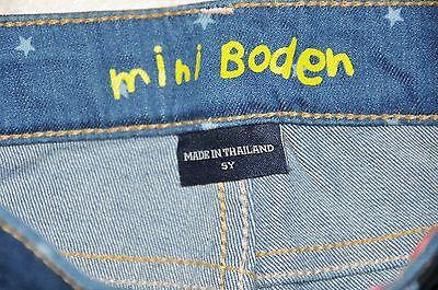 Girls Mini Boden Denim 3/4 Shorts Cropped Jeans Size 5 Years Bnwt 4