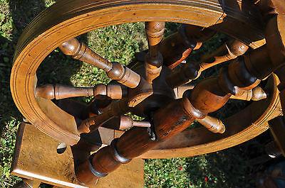 antikes  seltenes Spinnrad Eiche schwere Ausführung 8