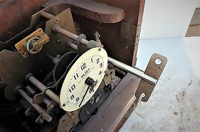 vintage clock, rare mechanical clocking in clock for work