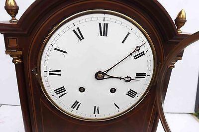 antique bracket clock rare striking movement in superb case and convex dial. 5