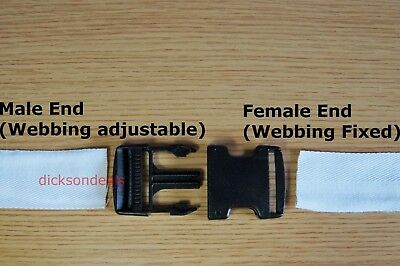 Plastic Delrin Side Release Buckles Clips For Webbing Bags Straps 20mm - 50mm 3