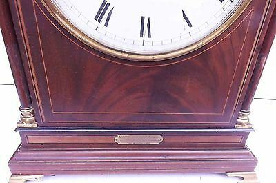antique bracket clock rare striking movement in superb case and convex dial. 3