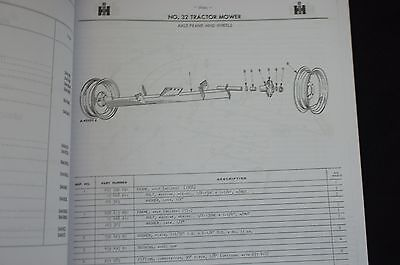 IH MCCORMICK FARMALL No 32 Trailer Pull Type PTO Sickle Bar Mower Parts  Catalog