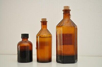 Apothekerflaschen - 3 Stück - Vintage - Arzneiflasche 2