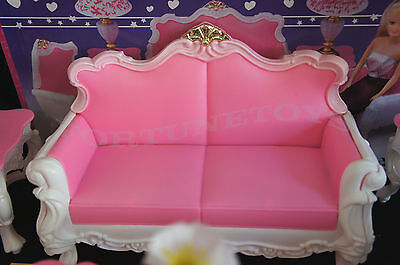 Coffee Table FOR Dolls GLORIA DOLLHOUSE FURNITURE NEW LIVING ROOM SET W//Sofa