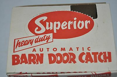 Vintage Superior Barn Door Catch w/ Hardware Heavy Duty Automatic Latch 5