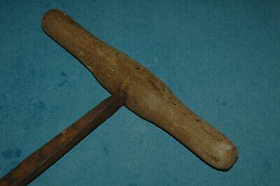 großere antiker Handbohrer - geschmiedet - punziert - ca.49cm - Bohrer 2