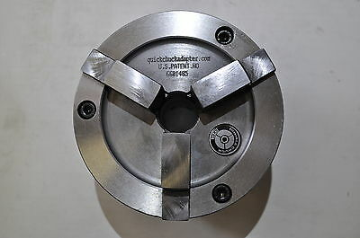 "Brake Lathe 1"" Double Quick Chuck Adapter / Backing Plate / Key fits Ammco"
