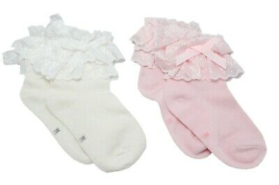 Baby Girls Lace Frilly Pink Summer Ankle Socks 6-12 Months Age 1 2 3 4 5 6 7 8 2