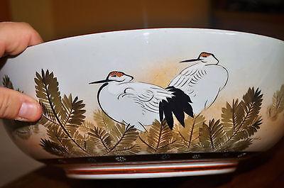 Superb Set of 3 Large Kutani Graduated Porcelain Bowls Hand Painted Meiji Period 2