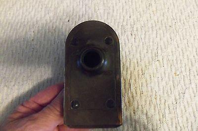 Antique Vtg Brass Door Knob With Brass Plates 3