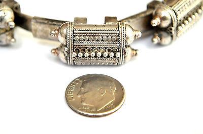 Antique .800 Silver Handmade 7 Capsules Filigree Bedouin Bracelet 6