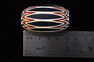 Antique Huge Murano 6-Six-Layer Chevron Drawn-Glass Trade Bead 7