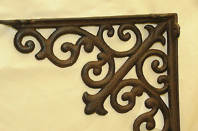 (4) Tuscan Brown Iron Corbels,LG shelf brackets,countertop support,cornices NWT 3