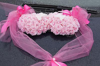 Auto Schmuck Blumen Braut Paar Dekoration Autoschmuck Herz Hochzeit
