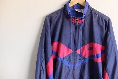 NIKE WINDBREAKER RETRO shell suit jacket | L | BluePink