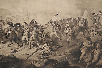 BATTLE OF ALEXANDRIA 1801 PAINTING FRENCH BRITISH WAR ART REAL CANVASPRINT