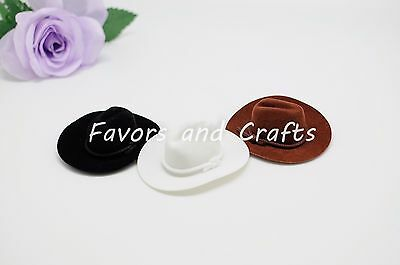 7cb4739c4b752e ... 3 of 6 12 PCS Mini Cowboy Hats Western Wedding Party Favors Crafts Brown  Black White 5