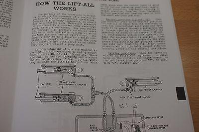 hydraulic lift-all farmall h hv m md mv brsm ih service rebuild & repair